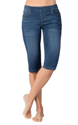 Model wearing PajamaJeans Knickers - Vintage Wash image number 0
