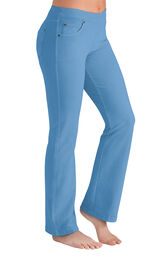 Model wearing PajamaJeans - Bootcut Cool Blue image number 0