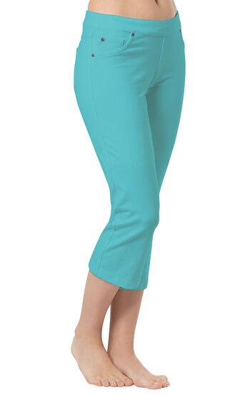 PajamaJeans® Capris - Aqua