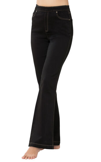 PajamaJeans® - High-Waist Bootcut Black