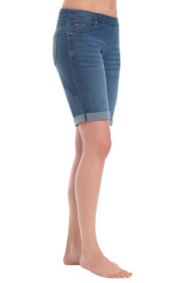 PajamaJeans® Bermuda Shorts - Bluestone Wash