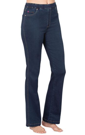 PajamaJeans® - High-Waist Bootcut Indigo