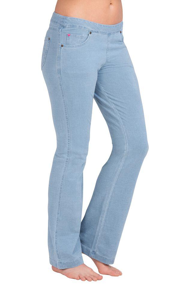 Model wearing PajamaJeans - Bootcut Clearwater Wash image number 0