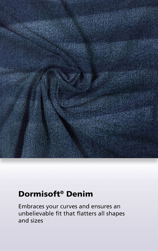 Indigo Wash Dormisoft Denim Fabric Close-up image number 3