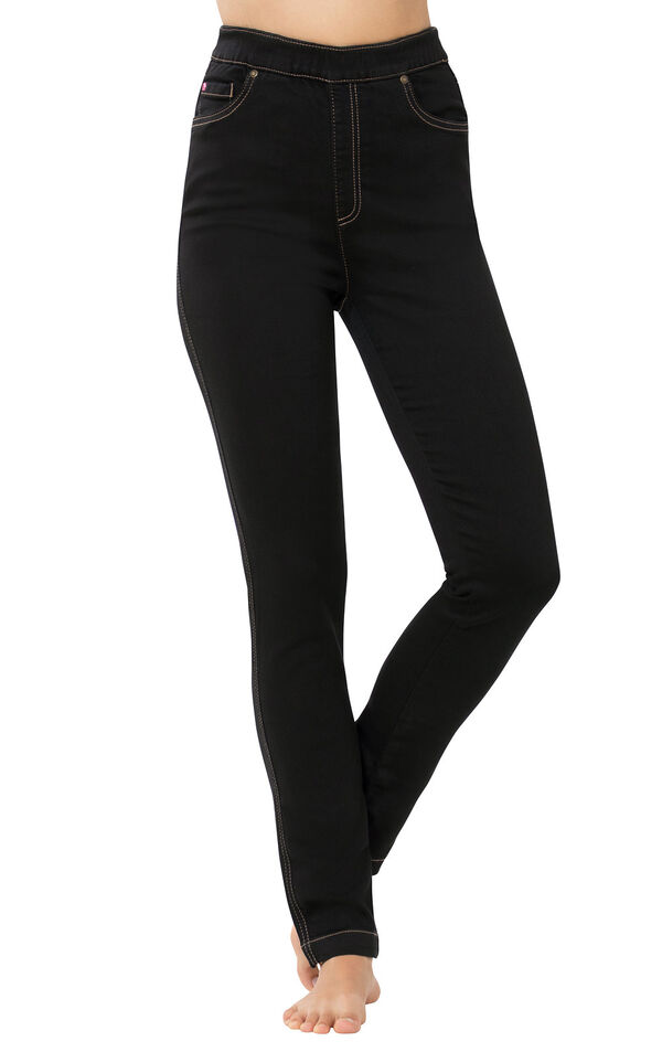 PajamaJeans - High-Waist Skinny Black image number 0
