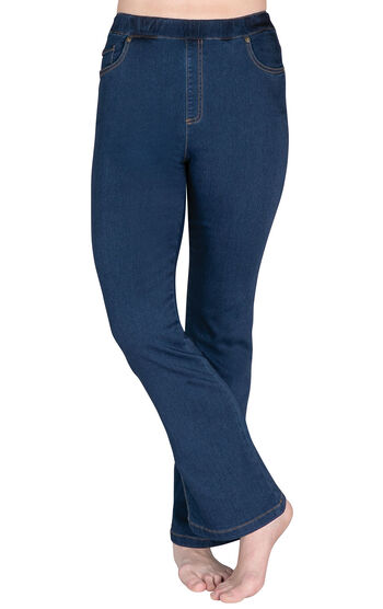PajamaJeans® - High-Waist Bootcut Bluestone Wash