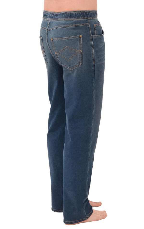 Model wearing PajamaJeans for Men - Vintage Wash, facing away from the camera image number 1