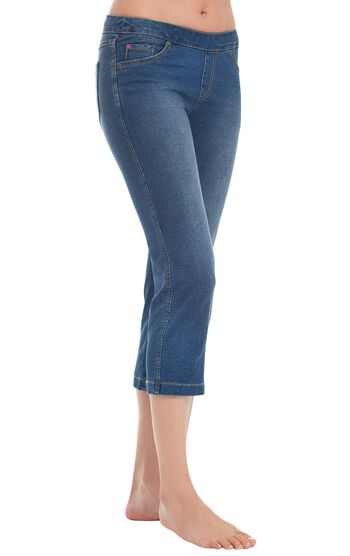 PajamaJeans® Capris - Bluestone Wash
