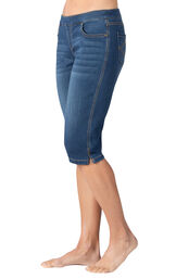 Model wearing PajamaJeans Knickers - Vintage Wash, facing to the side image number 2