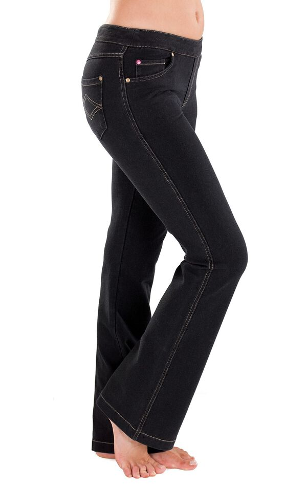 Model wearing PajamaJeans - Bootcut Black image number 0