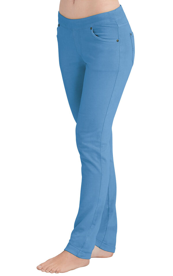 Model wearing PajamaJeans - Skinny Cool Blue image number 0