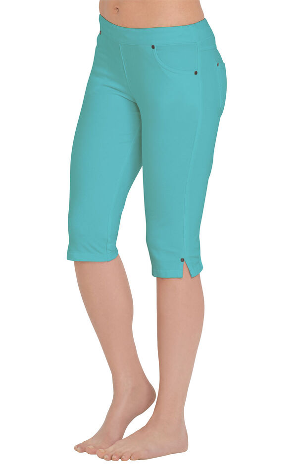 Model wearing PajamaJeans Knickers - Aqua image number 0