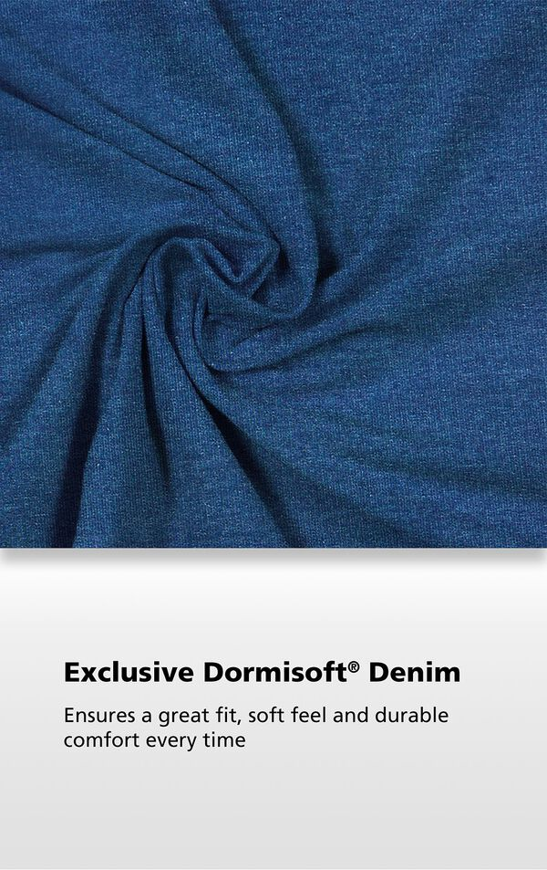 Pacific Wash fabric with the following copy: Exclusive Dormisoft Denim ensures a great fit, soft feel and durable comfort every time. image number 2