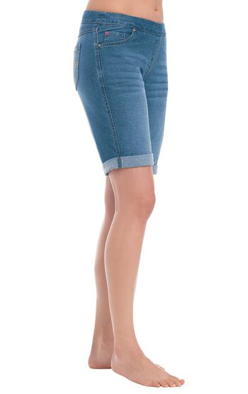 PajamaJeans® Bermuda Shorts - Bermuda Wash