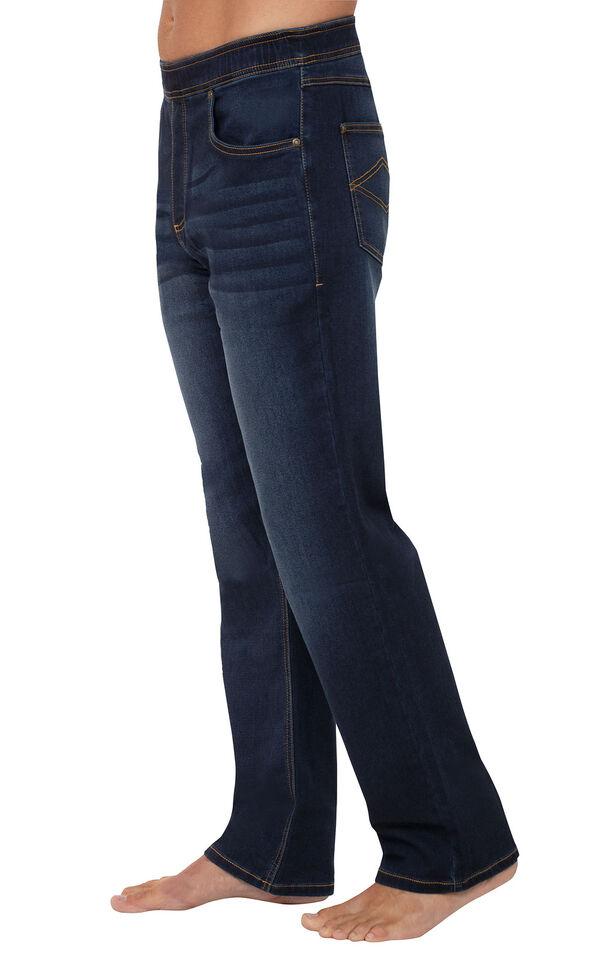 PajamaJeans for Men - Indigo Wash - Side View image number 2