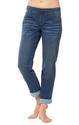 PajamaJeans Boyfriend Jeans - Vintage Wash image number 0