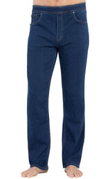Model wearing PajamaJeans for Men - Bluestone Wash image number 0