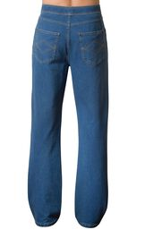 Model wearing PajamaJeans for Men - Pacific, facing away from the camera image number 1